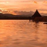 sunset over Llangorse Lake