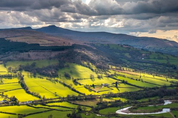 Valley near Talybont-on-Usk