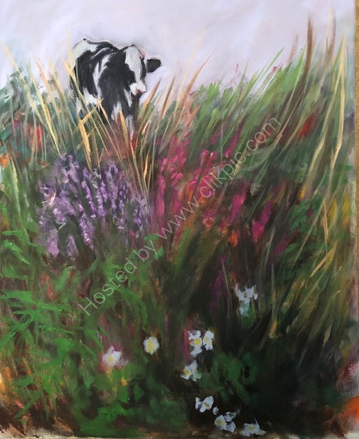THROUGH THE HEDGEROW, COW