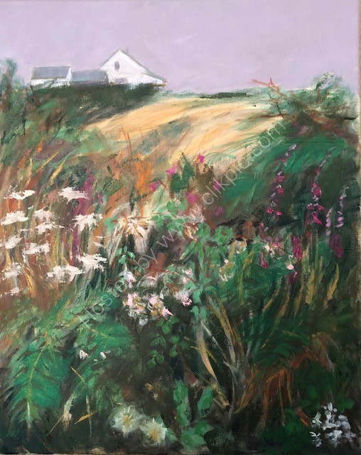 THROUGH THE HEDGEROW, FARM / £350.00