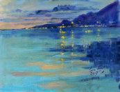 Nightfall over Elounda
