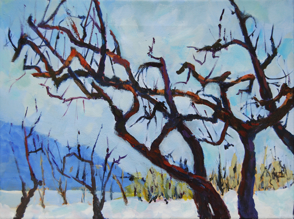 Winter Orchard Acylic 11x14