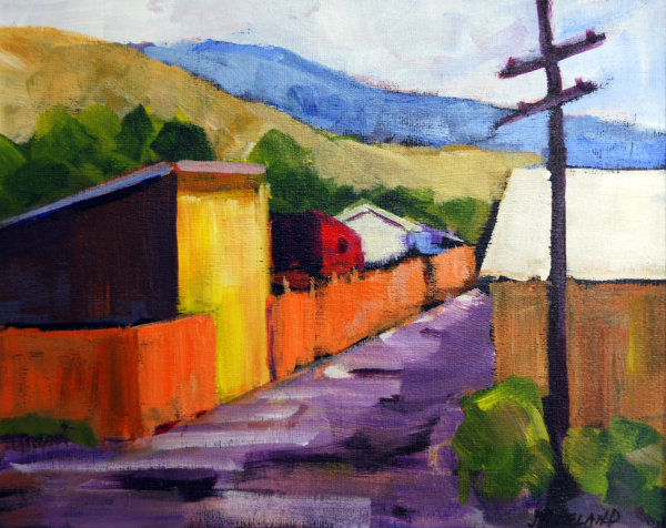 Back Alley Ashcroft BC Acrylic 8x10