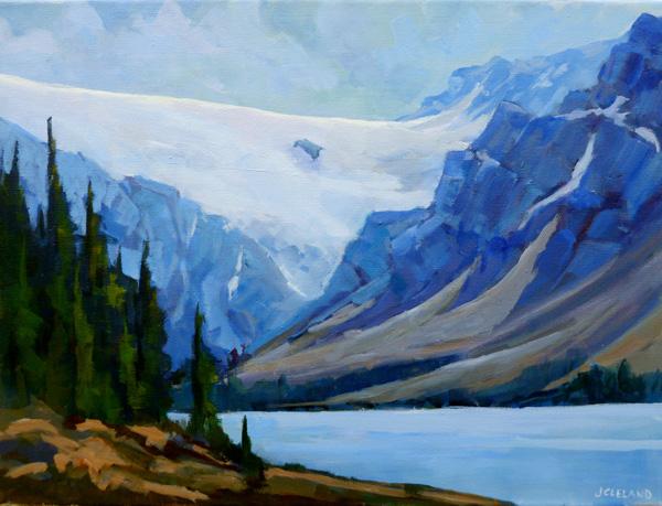 Bow Lake Glacier 12x16 Acrylic
