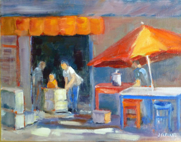 Market Guyabitos, Mexico Oil 11x14