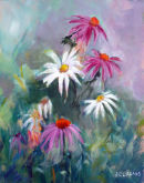 Echinacea and Diasy - JC Studio Art