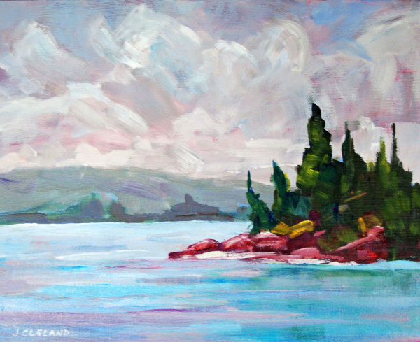 Shoreline Shuswap Lake Acrylic 8x10