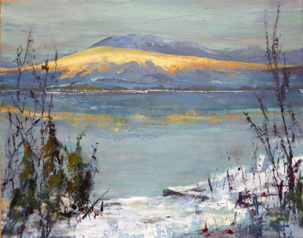 Shuswap Lake Evening Light - JC Studio Art