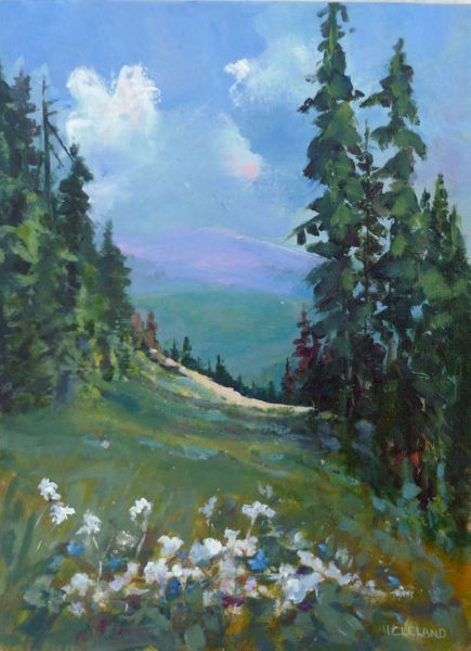 Sunpeaks Ski Hill  - JC Studio Art