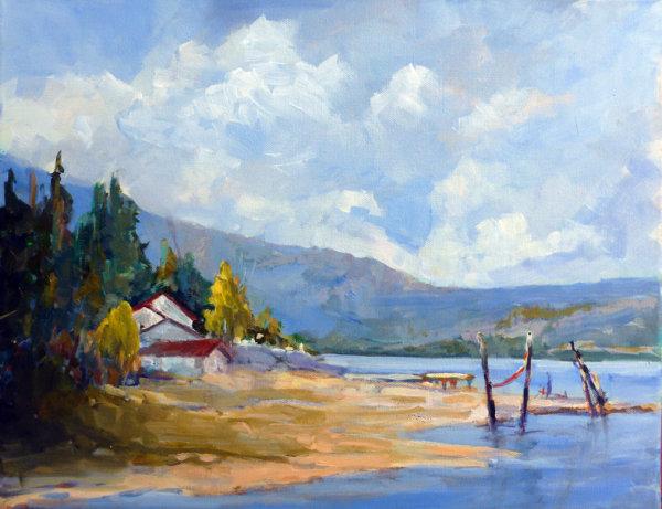 Beach Home, Eagle Bay Rd. BCAcrylic 14x18
