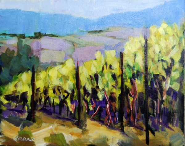 Vineyard Larch Hills Acrylic 8x10