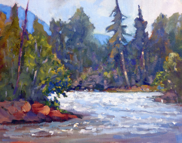 Adams River, Rodrick Haig Park BC 11x14