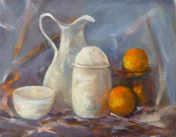 Still Life with Oranges JC Studio Art  18x14