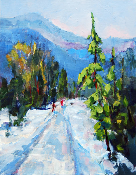 Winter Walk Acrylic 14x11