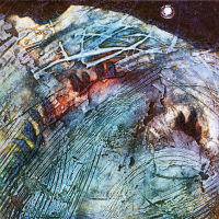 Beyond Bounds, Collagraph, 26x26cm