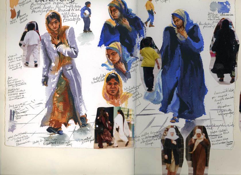 Bradford people, Watercolour