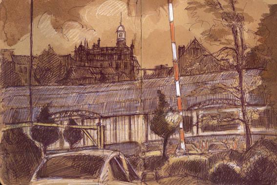 Bradford Trading Estate, Biro and Ink