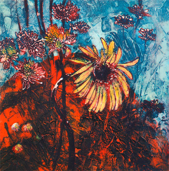 Flower Dance 2, Collagraph