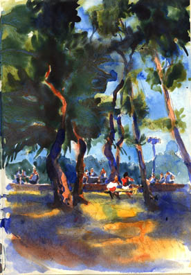 Argeles plage, Watercolour