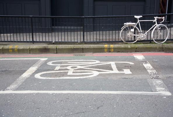 Ghost bike portrait 1