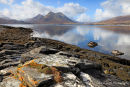 Cuillin mountains on Skye from Raasay
