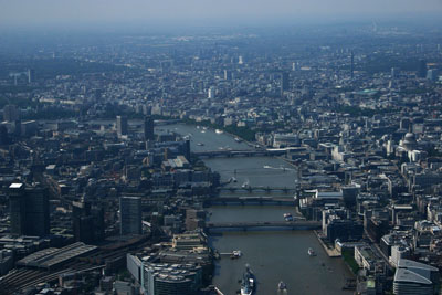 Aerial view of River Thames