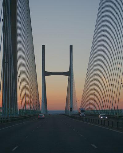 Sunset on The Severn Bridge