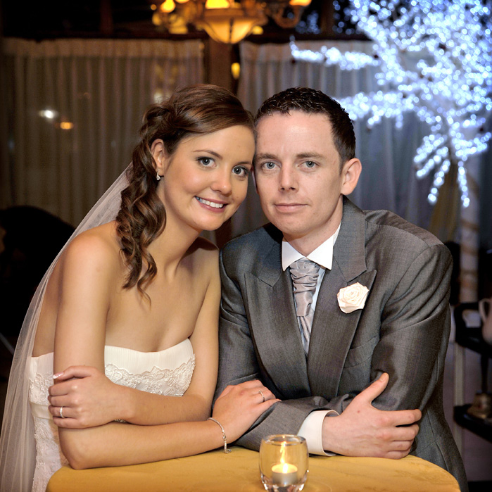 Niamh and Gary, at the Oakwood Arms Hotel, Shannon.