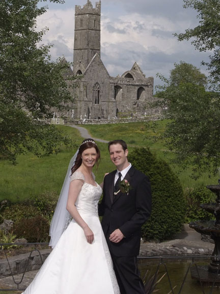 Anna and Chris. Wedding at Quin, Co Clare.