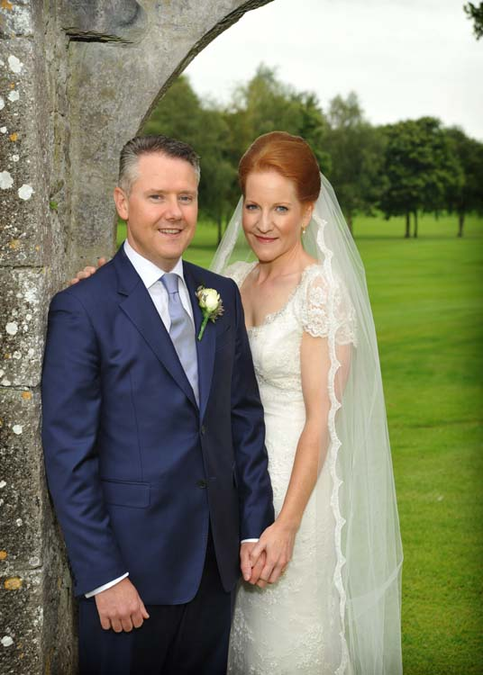 Tom and Aoife, at the Franciscan Friary on the Golf Course at Adare.