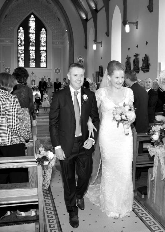 Tom and Aoife at Crecora Church