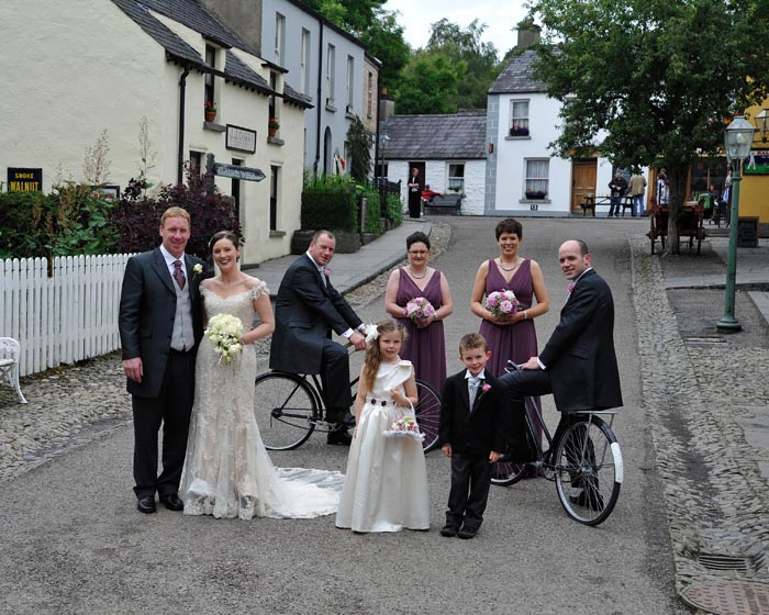 The Village Street,Wedding at Bunratty Folk Park, Co Clare.