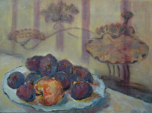 Still Life: Figs;  In coll. of Mrs Morrison