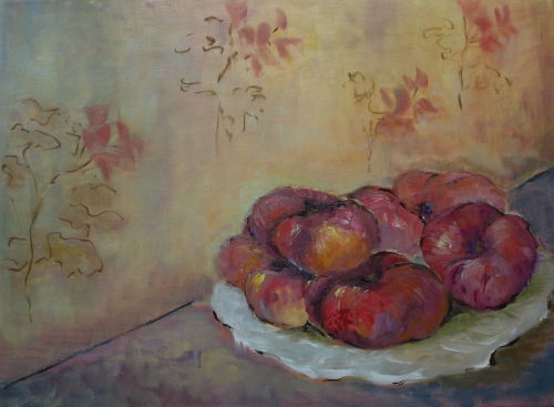 Flat Peaches; In collection of Mrs Morrison