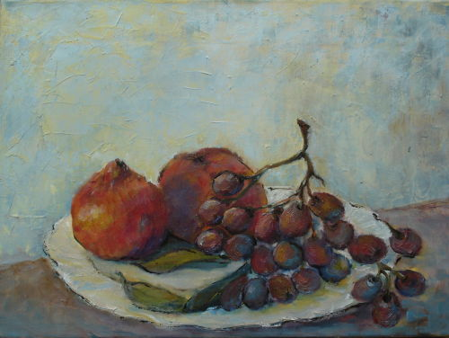 Grapes & Peaches, SOLD, In collection of Mrs Morrison