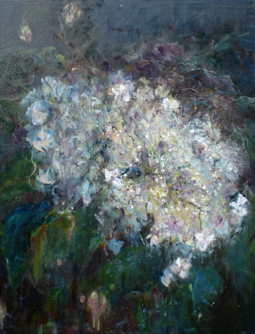 Climbing Hydrangea, Oil, 2010,  (Framed)