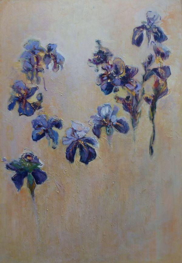 Irises,  (Framed)