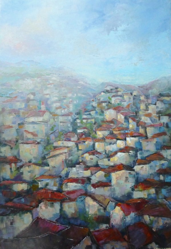 Rooftops of Istria, Croatia 2014, SOLD