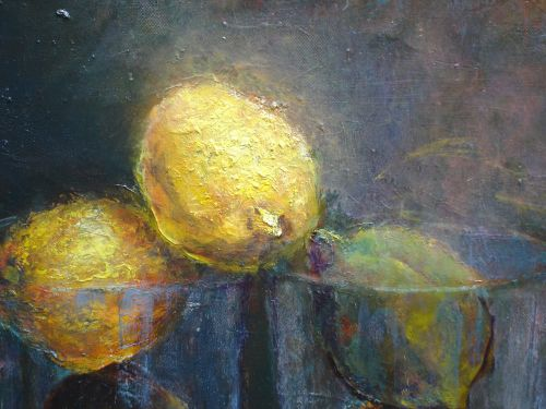Lemons, Oil, 2010, Details