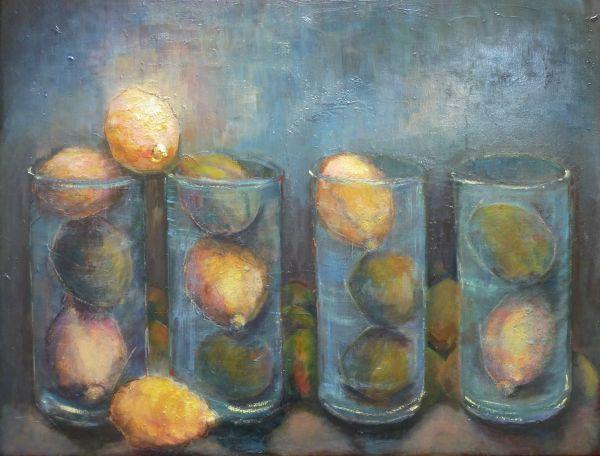Lemons (Zest for Life) Oil, 2010, (Framed) SOLD