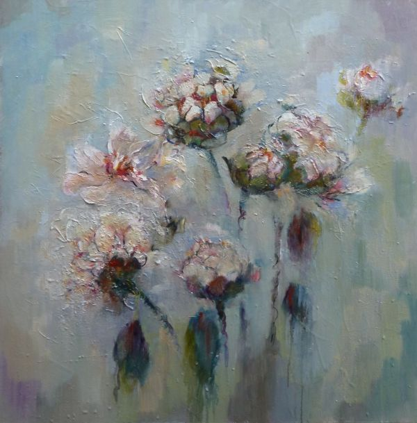 Peonies for Pall Mall  (Framed)