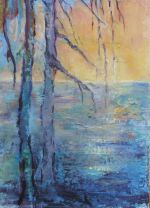 Purple Trees Sunset, collection of Elizabeth Mitchell