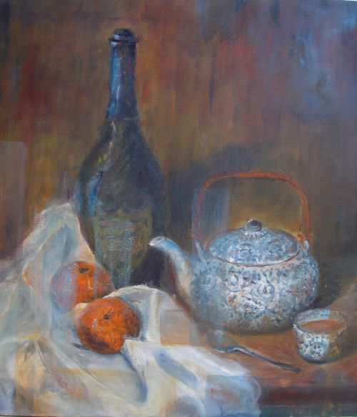 Still Life, Tea Party,  S O L D