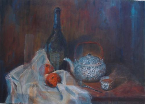 Still Life, Tea Party , Oil, 50x70cm S O L D