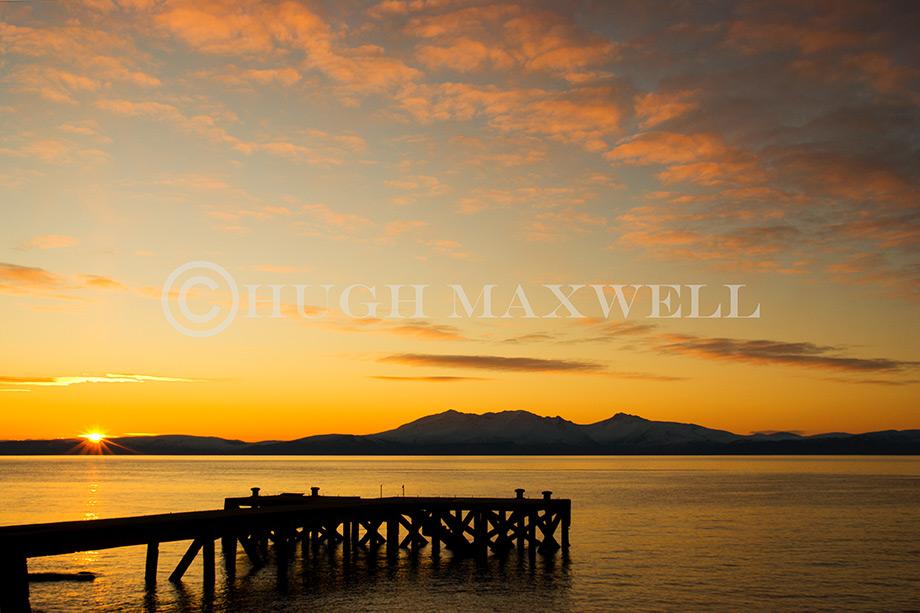 Arran Sunset from Portencross