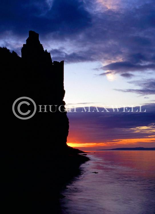 Greenan Castle Silhouette