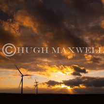 Sunset at Whitelee Windfarm