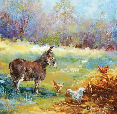 Farmyard Gossip  <FONT COLOR=