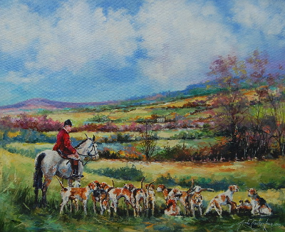 Hunting Above Aghold ( SOLD)