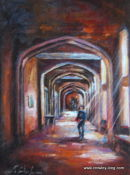 A Scholar in the Long Gallery (SOLD)